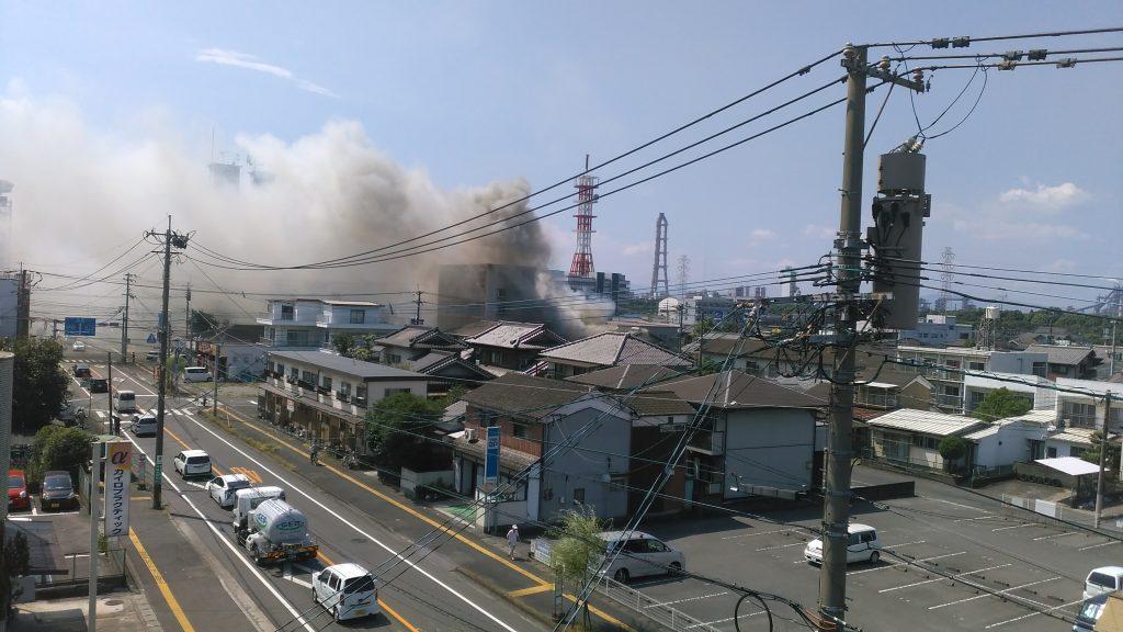 8月22日大分市高城 火事